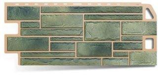 Цокольный сайдинг Альта-Профиль коллекция Природный камень малахит