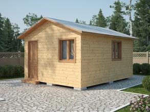 Одноэтажный каркасный домик 5х4 К-1-3