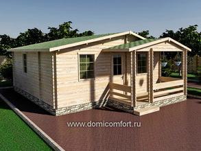 Домик садовый 6000х6000 с крыльцом