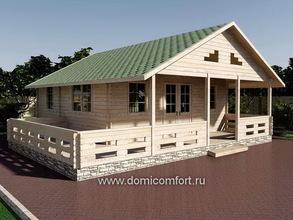 Дачный домик 6060 с мансардой