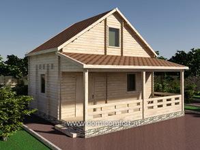 Домик садовый двухэтажный 6040