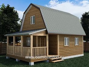 Деревянный навес пристроенный к дому 2х5