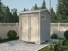 Дачный туалет 2х2 двухскатная крыша