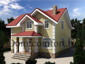 Дом из кирпича 10 на 11 с гаражом