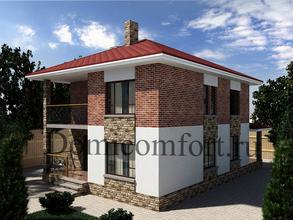 Дом из пеноблоков 8,5 на 10 с террасой